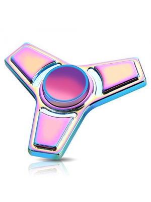 ATESSON Fidget Spinner Toy, Ultra Durable Stainless Steel Bearing High Speed, 2-4 Min Spins Precision Colorful Metal Hand Spinner, EDC ADHD Focus Anxiety Stress Relief Boredom Killing Time Toys