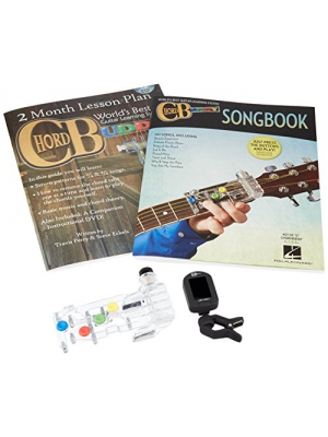 ChordBuddy Guitar Learning System- Includes RIGHT handed ChordBuddy Device, 2 Month Lesson Plan DVD and Song Book with BONUS Clip on Chromatic Tuner