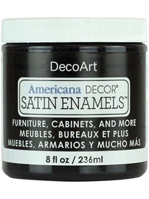 Americana Decor Satin Enamels 8oz-classic Black