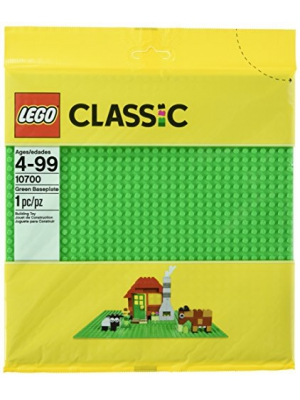 LEGO Classic Green Baseplate Supplement for Building, Playing, and Displaying LEGO Creations, 10cm x 10cm, Large Building Base Accessory for Kids and Adults