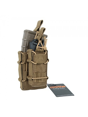 Excellent Elite Spanker Tactical MOLLE Double Stacker M4 Mag Pouch with Pistol Mag Pouch