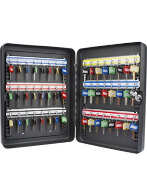 Barska 48 Position Key Lock Box with Key Lock, Black