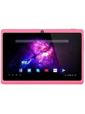 Alldaymall A88X 7'' Tablet - Android 4.4, Quad Core, HD 1024x600, Dual Camera, Bluetooth, Wi-Fi, 8GB, 3D Game Supported - Pink