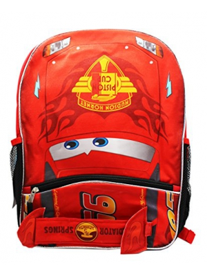 Pixar Cars McQueen Backpack with Front Pocket-16""
