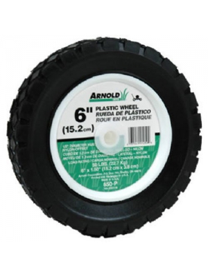Arnold 490-320-0002 6 x 1.50 Plastic - 50-Pound Load Rating Wheel - Replaces 650-P