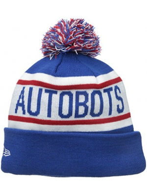New Era Cap Men's Autobots Biggest Fan Redux Pom Knit Beanie