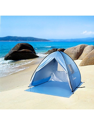 WolfWise UPF 50+ Easy Pop Up Beach Tent Instant Sun Shelter Tent Sunshade Baby Canopy