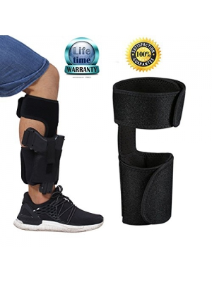 Ankle Holster for Concealed Carry Pistol/Handgun with Adjustable Elastic Secure Strap ,Xiaoyi Gun Holsters Suitable men and women For Glock 42, 43, 36, 26, S&W Bodyguard .380, .38, Ruger LCP, LC9