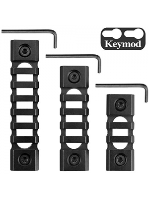 Keymod Picatinny Rail Sections, Monoki 5-Slot 7-Slot 13-Slot Lightweight Picatinny Rail Section for Keymod Handguard Mount Rail System with 3 Allen Wrench & Solid-Style, 3 Pack (3/5/7-Slot)