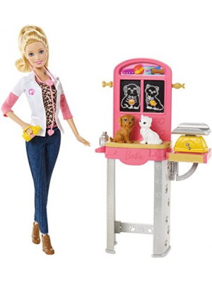 Barbie Careers Pet Vet Doll and Playset