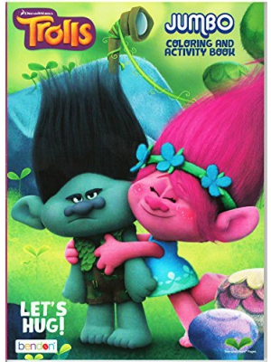 Dreamworks Trolls Lets Hug Jumbo Coloring and Activity Book
