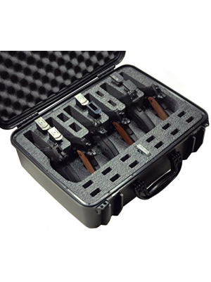 Case Club Waterproof 6 Pistol Case with Silica Gel