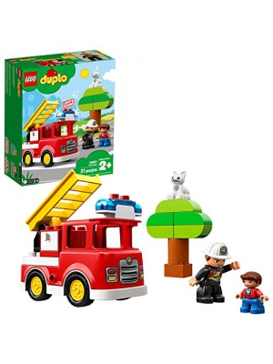 LEGO DUPLO Town Fire Truck 10901 Building Blocks, 2019 (21 Pieces)