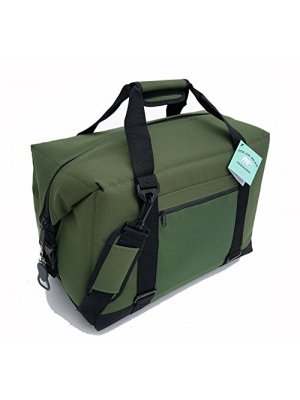 Polar Bear Coolers Nylon Line - Quality Like No Other From the Brand You Can Trust - See Touch & FEEL the Polar Bear Difference - Patent Pending - 24 Pack Green