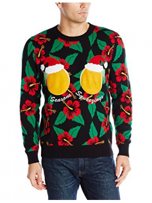 Alex Stevens Men's Seasons Squeezings Ugly Christmas Sweater