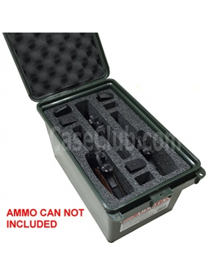Case Club 3 Pistol & 6 Magazine Holder Large AC-11 MTM Ammo Can Foam (Pre-cut, Closed Cell, Military Grade Foam)