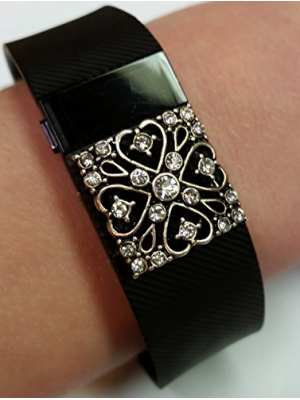 Stepbling Fitness Band Bling Accessory for Fitbit Charge & Charge HR, The Queen