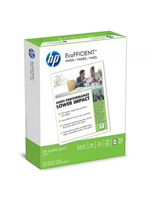 HP Paper, EcoFFICIENT Copy Paper, 16lb, 8.5x11, Letter, 92 Bright, 625 Sheets/1 Ream (216000), Made In The USA