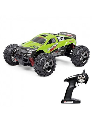 Vatos RC Remote Control Car Off Road High Speed 4WD 25MPH 1:24 Scale 50M Remote Control 30 Mins Playing Time 2.4GHz Electric Vehicle Buggy Truck (VL-BG1510B-G) (Green)