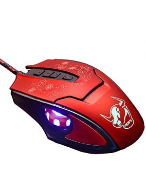 Laser PC Wired Gaming Mouse ZENBLU USB Port Ergonomic Led Mice Optical High Precision Office 7 Buttons Adjustable 3200 DPI for Video Games Laptop Computer Desktop Notebook Tablet Red