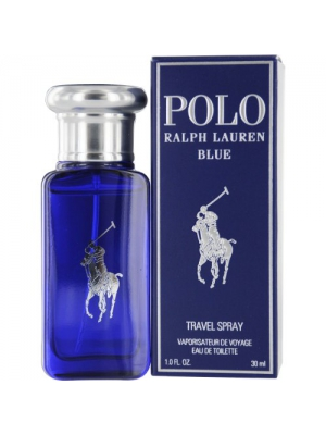 Ralph Lauren Eau de Toilette Spray for Men, Polo Blue, 1 Ounce