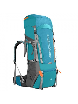 OutdoorMaster 70L + 5L Hiking Backpack - Internal Frame with Waterproof Cover