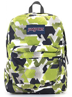 Jansport Superbreak Backpack (Multi water Color Angles)