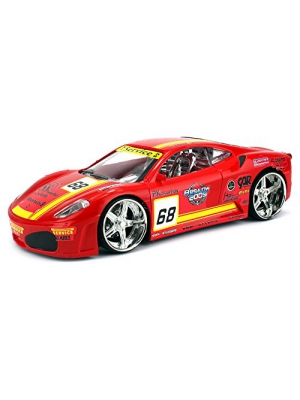F1 Race Car Battery Operated Remote Control RC Car 1:24 Scale Size Ready to Run RTR w/ Bright Flashing Lights (Colors May Vary)
