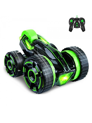 Race Stunt Car Remote Control RC Vehicle with LED Headlights пјЊExtreme High Speed 20km/hпјЊ 360 Degree Rolling Rotating Rotation пј€ColorпјЊGreen пј‰