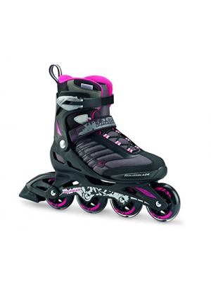 Rollerblade Zetrablade W - Women's Skate - 4x80mm/84A Wheels - SG 5 Performance Bearings - Black/Cherry - US Women's Size 8