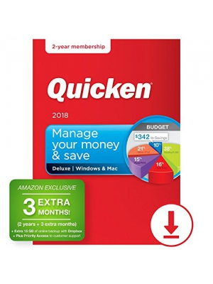 Quicken Deluxe 2018 – 27-Month Personal Finance & Budgeting Software [PC/Mac Download] – Amazon Exclusive