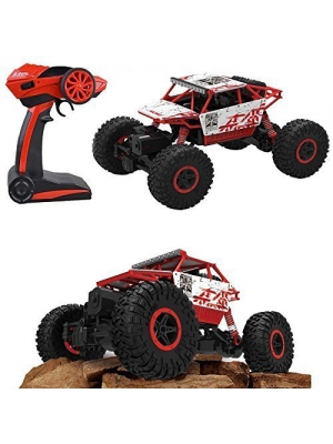 Aibay RC Rock Off-Road Vehicle 2.4Ghz 4WD Fast Speed Racing Cars Electric Rock Crawler Electric Buggy Hobby Car Fast Race Crawler Truck (Red)