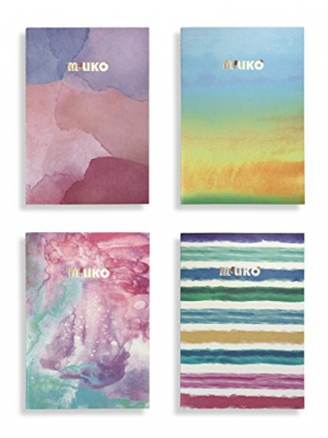 Miliko A5 Watercolor Series Softcover Notebooks/Journals/Diary Set-4 Unique designed Notebooks Per Pack