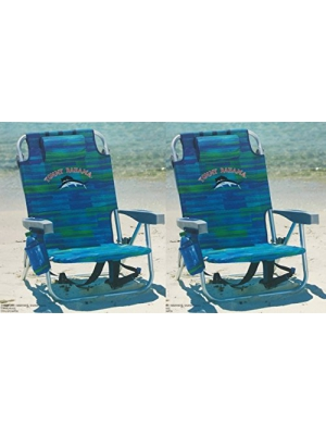 Tommy Bahama 2 Backpack Cooler Chair with Storage Pouch and Towel Bar