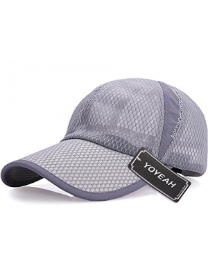 YOYEAH Men and Women Snapback Baseball Cap Sun Hat Outdoor Sports Mesh Hat