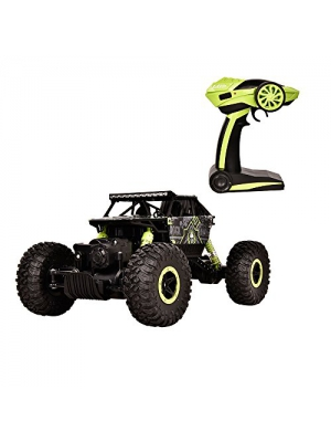 HUKOER Remote Control Car - Electric Fast 4WD High Speed 1:18 Size RC Car Rock Crawler Hobby Car with 2.4 GHz Control System (Green)