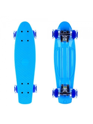 Enkeeo 22 Inch Cruiser Skateboard Plastic Banana Board with Bendable Deck and Smooth PU Casters for Kids Boys Youths Beginners ,Multiple Colors