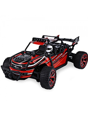 ZC 1/18 Scale Electric RC Car Offroad Truck 2.4Ghz 4WD High Speed 12MPH Buggy Toy Driver Vehicle,Red