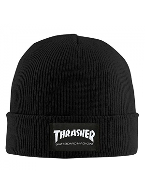 Thrasher Skateboard Magazine Graphic Print Man Beanie Ski Hat Dress Cherished Wool Hat