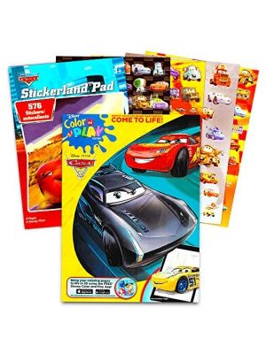"Disney/Pixar CARS Coloring Book with Stickers ""The Fast Lane"" (96 Pages)"