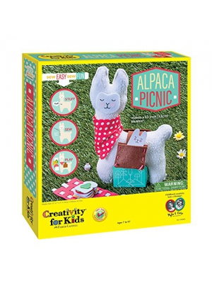 Creativity for Kids Alpaca Picnic Sew Easy So Fun! Craft Kit