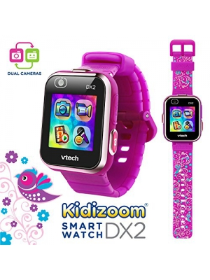 VTech Kidizoom Smartwatch DX2 - Special Edition - Floral Birds with Bonus Vivid Violet Wristband