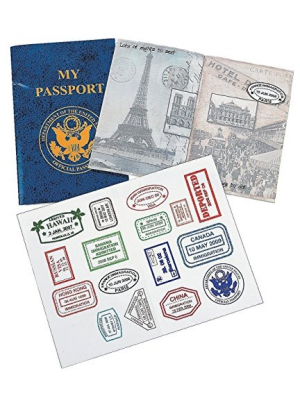 PASSPORT STICKER BOOK (1 DOZEN) - BULK