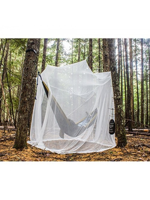 MEKKAPRO Ultra Large Mosquito Net and Insect Repellent by Large Two Openings Netting Curtains | Prevent Malaria Zika West Nile Viruses | Camping, Bedding, Patio | Carrying Pouch and Hanging Kit
