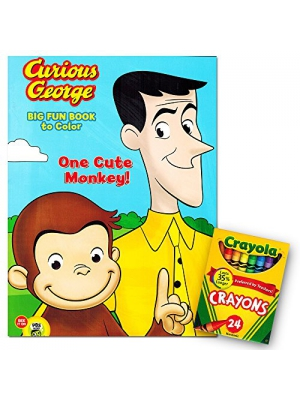 Curious George Jumbo Coloring Book with Crayola Crayons