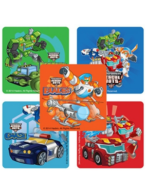 Transformers Rescue Bots Stickers - Birthday and Theme Party Supplies - 100 Per Pack