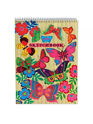 eeBoo Sketch Book Drawing Pad, Fluorescent Butterfly