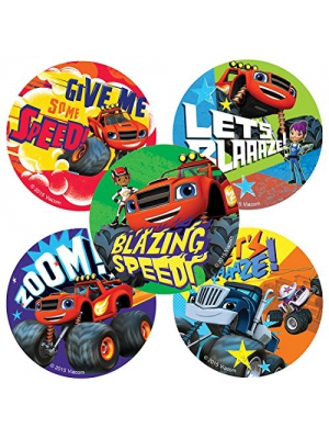 Blaze and the Monster Machines Stickers - Birthday and Theme Party Favors - 100 per Pack