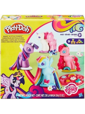 Play-Doh My Little Pony Make n Style Ponies, 4 molds to create each type of pony: Earth, Pegasus, Unicorns and Princesses