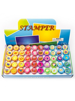 Fun Central AU199 Assorted Stampers - 50 Pc kids stamp assortment ...